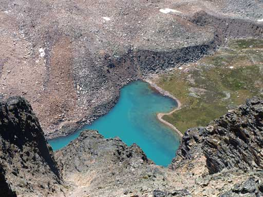 Looking down to Opabin Lake