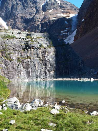 Lefroy Lake on the descent