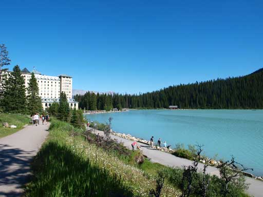 Down to Lake Louise now
