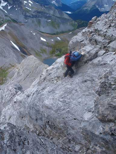 More exposed slabs on the direct line.