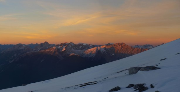 One last look at the evening glow on Colin Range