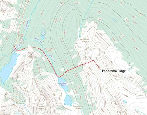 Panorama Ridge standard scramble route