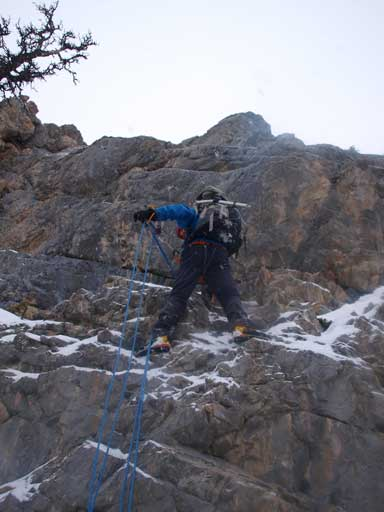 Ben on the crux