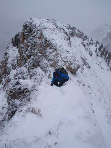 Typical condition on the upper mountain.