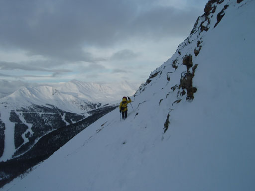 Me traversing steep terrain. Photo by Ben Nearingburg