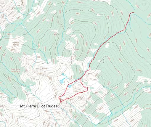 Mt. Pierre Elliot Trudeau ascent route