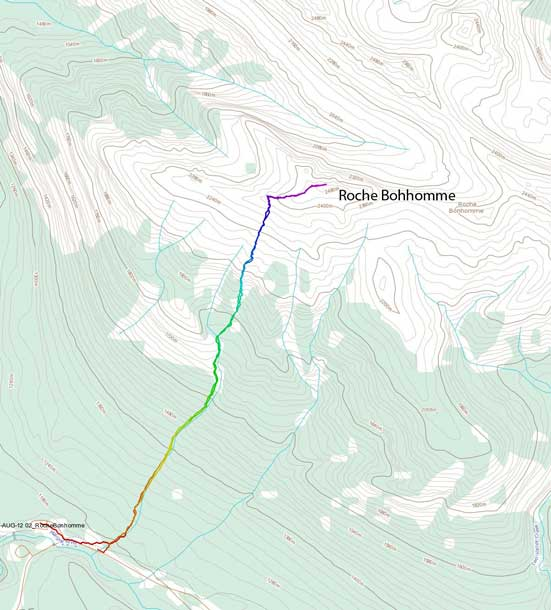Roche Bonhomme (Old Man Mountain) scramble route