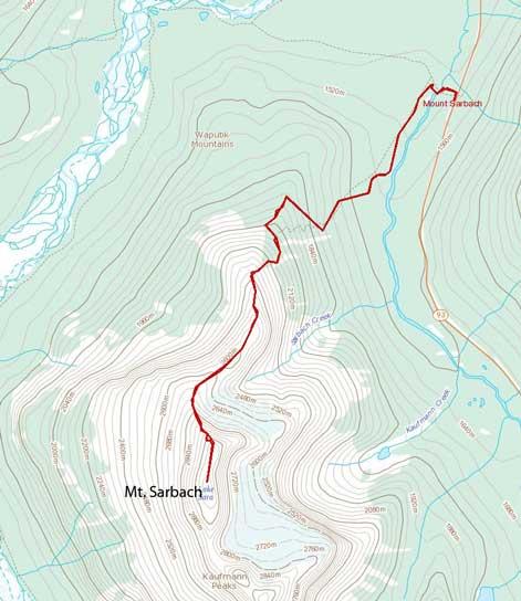 Mt. Sarbach standard scramble route