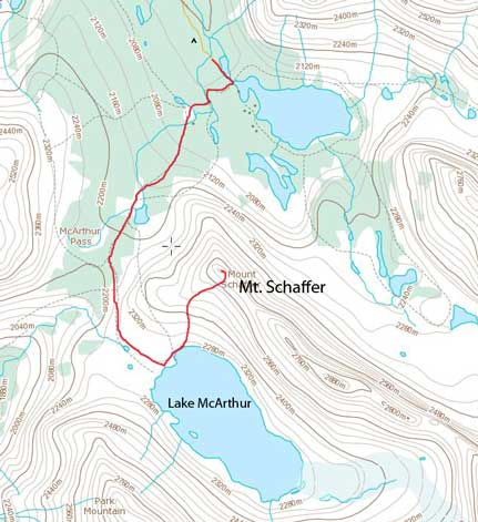 Mt. Schaffer scramble route