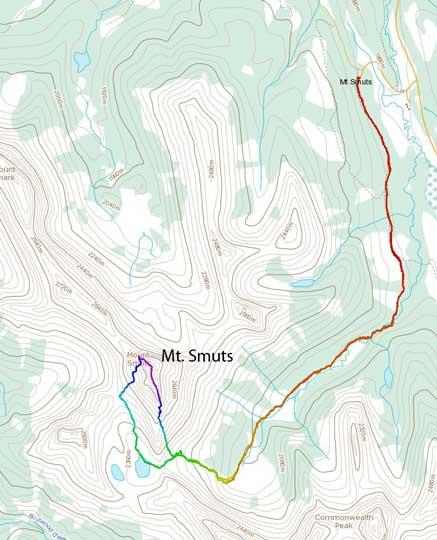 Mt. Smuts standard scramble route
