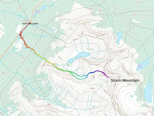 Storm Mountain standard scramble route
