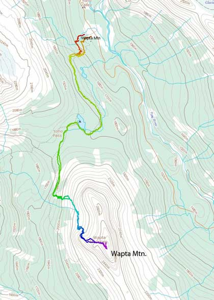 Wapta Mountain standard scramble route