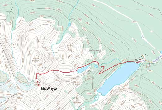 Mt. Whyte standard scramble route