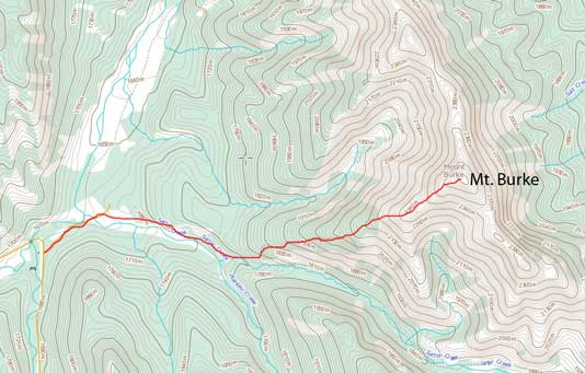 Mt. Burke hiking/scrambling route