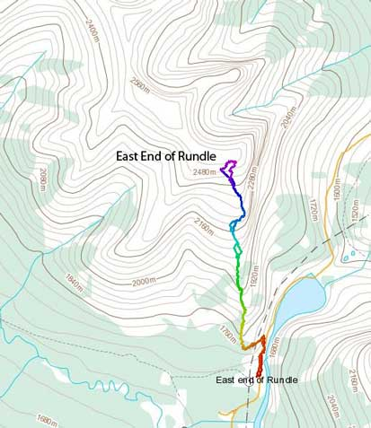 East End of Rundle standard scramble route