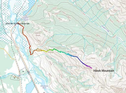 Hawk Mountain standard scramble route