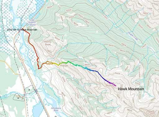 Hawk Mountain standard scramble route
