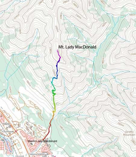 Mt. Lady MacDonald standard scramble route