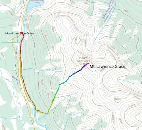 Mt. Lawrence Grassi standard scramble route