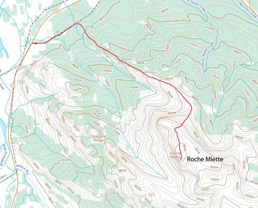 Roche Miette standard scramble route