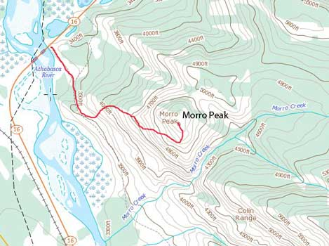 Morro Peak standard scramble route