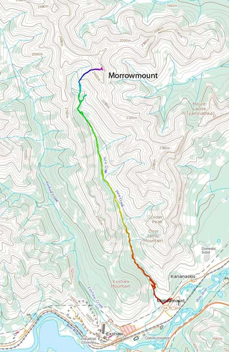 Morrowmount scramble route via Jura Creek