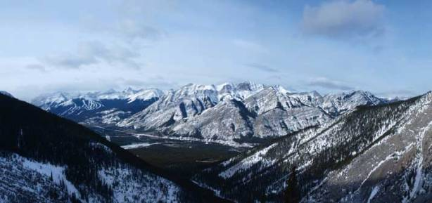 A long shot of Kananskis Valley