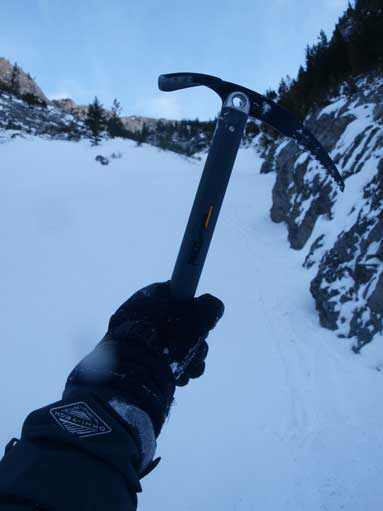 My brand new ice axe... I only used them once before on Grotto Mountain.