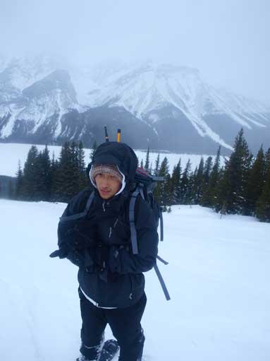 Me at treeline. It was cold!