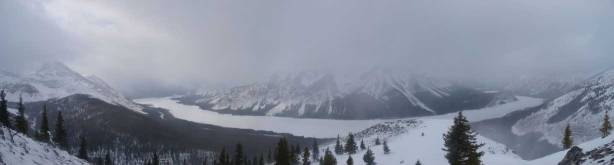 Panorama of Spray Lake