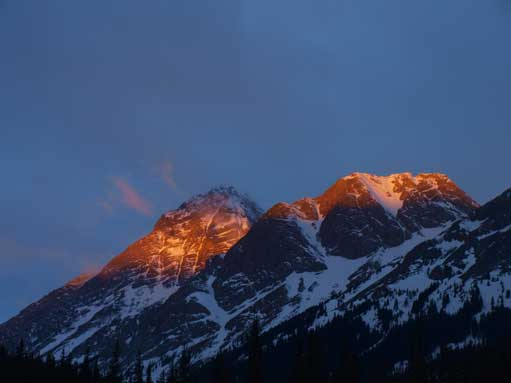 Alpenglow on Birdwood and Commonwealth
