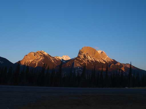 Alpenglow from our parking lot
