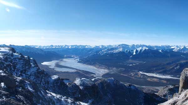 Jasper Lake and Talbot Lake towards west side.