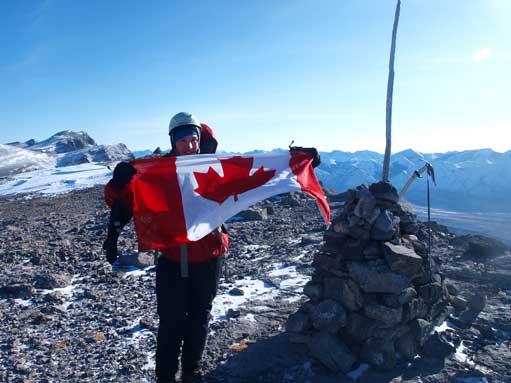 Morgan on the summit