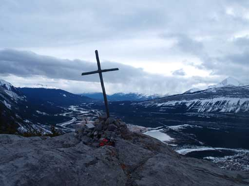 "And this is the famous ""summit cross""."