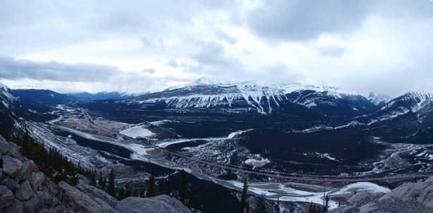 Athabasca River Valley from the summit