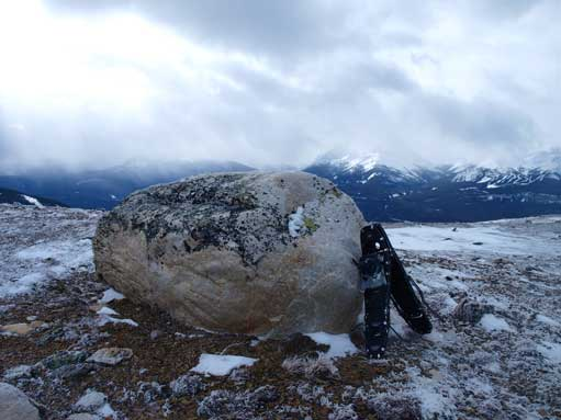 An interesting erratic? On the ridge