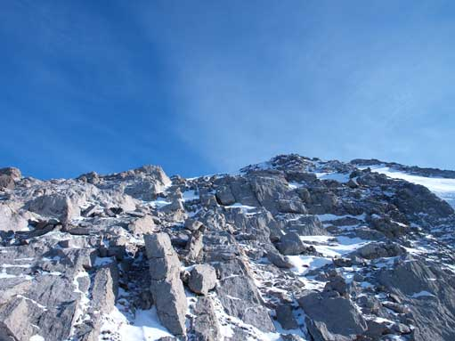Typical terrain on summit block.