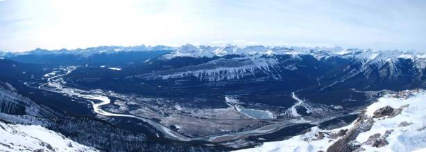 Panorama of Athabasca River Valley