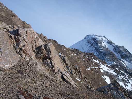 Looking back towards the summit block