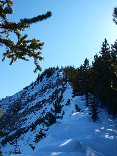 This gives a good perspective of the ridge towards false summit