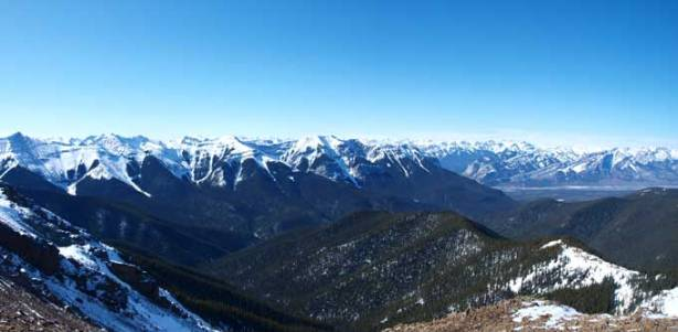 Fiddle Range from the summit