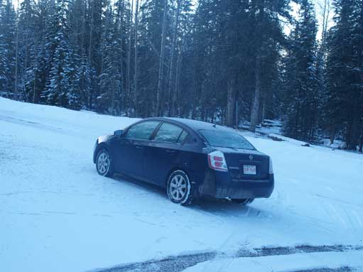 This wasn't a good place to play around with my 2WD without winter tires!