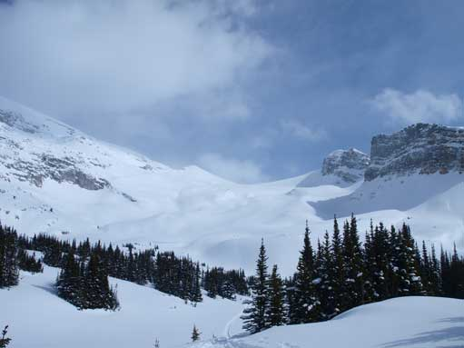 One last view of Crowfoot's big slope