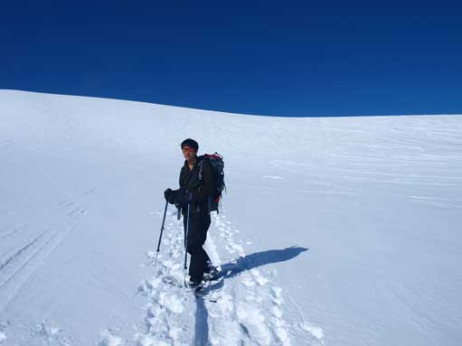 Me on the icefield just about to ascend the head-wall