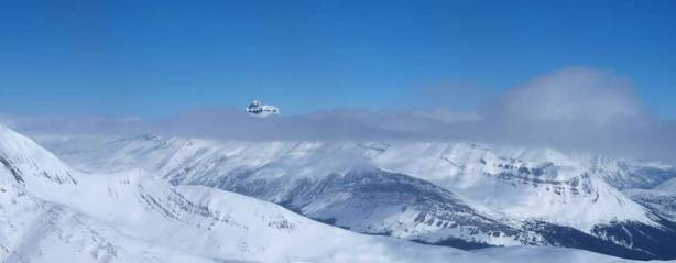 Nigel Peak poking through clouds