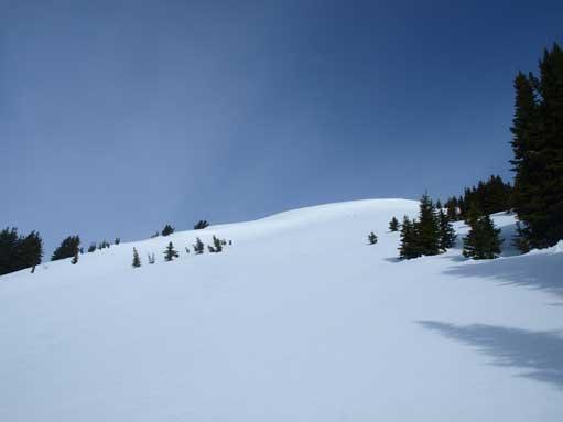 The upper open slope