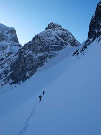 The steep traverse