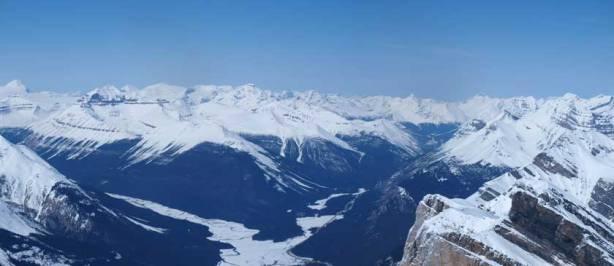Mount Saskatchewan on left. You can see Nigel peak down the highway.