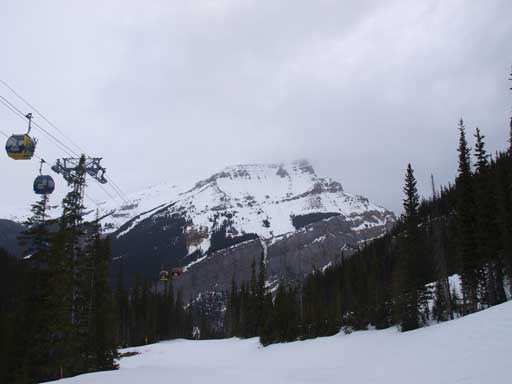 Mount Bourgeau from the ski-out. I was skiing in though.